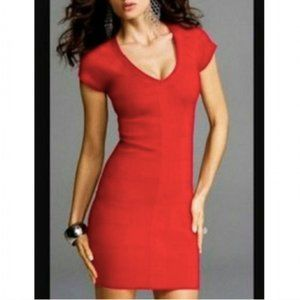 Express Red Bodycon Bandage Dress Stretchy